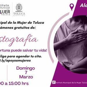 Promueve Toluca mastografías gratuitas para salvar vidas