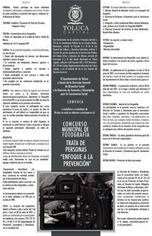 """Invita Toluca al Concurso Municipal de Fotografía: Trata de personas """"Enfoque a la prevención"""""""