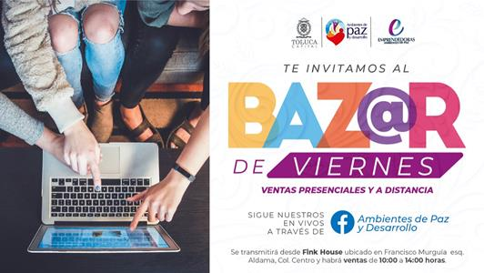 Con iniciativa Bazar de Viernes apoya Toluca a emprendedoras