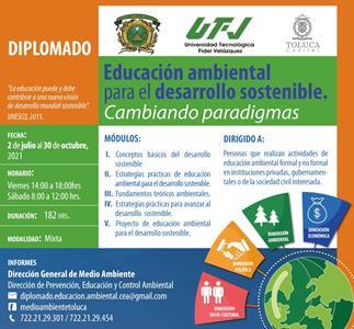 En Toluca, lista la 7ª edición del diplomado Educación ambiental para el desarrollo sostenible