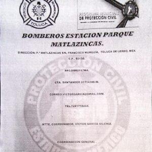 Alerta PC y Bomberos de Toluca sobre oportunistas que piden dinero a nombre de la institución