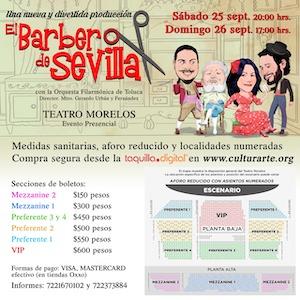 Invita Toluca a la ópera cómica por excelencia: El Barbero de Sevilla