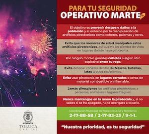 Implementa PC Toluca dispositivo para inhibir venta ilegal de pirotecnia