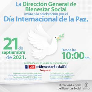 Celebrará Toluca el Día Internacional de la Paz con actividades virtuales